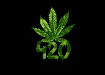 weed 420 t shirt design for sale