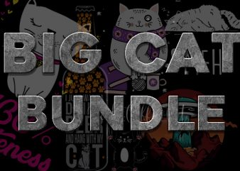 BIG CAT BUNDLE t shirt template