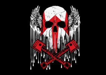 cool skull biker t shirt design template