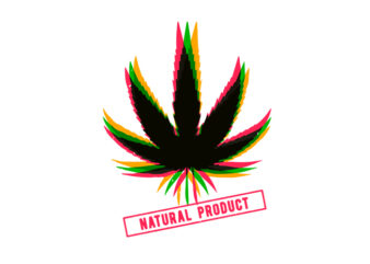 weed natural product t-shirt design for commercial use