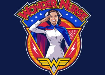 WONDER NURSE t-shirt design for sale