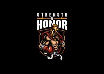 Spartan Strength Honor Vector T shirt Design