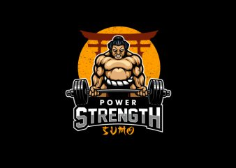 Power Strength Sumo Vector T-shirt Design
