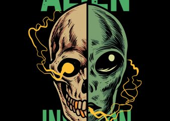 alien invasion t shirt design for sale