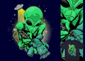 alien tattoo t shirt design for sale