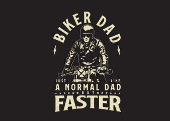 biker dad ready made tshirt design