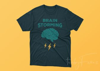 Brain Storming Cool Concept T shirt design to buy