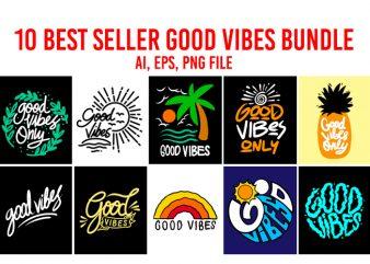 10 Best Seller Good Vibes Bundle