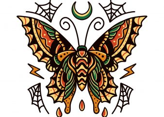 butterfly tattoo design design for t shirt