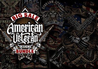 Big Sale American Veteran Bundle t shirt template
