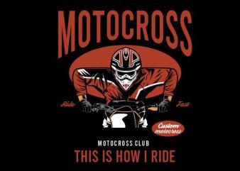 Motocross club tshirt design