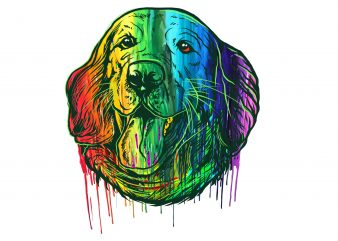 Happy dog #2 graphic t-shirt design