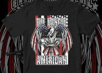 Eagle american design commercial use t-shirt design