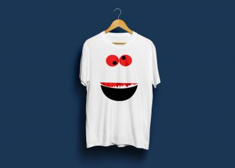 Funny face, Funky face, t Shirt design