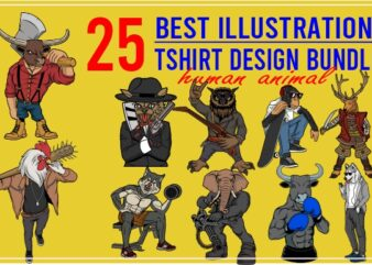 25 best tshirt design bundle human animal