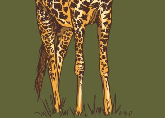 I am a giraffe t-shirt design for sale
