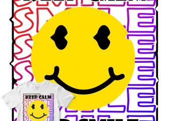 keep calm and smile buy t shirt design artwork