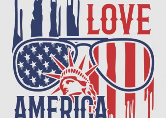 LOVE AMERICA vector design template t-shirt for sale t shirt design for purchase