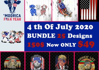 Bundles 4th Of July America USA Flag Patriot day Designs Merica Trump Lincoln Vintage