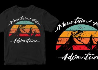 mountain bike adventure buy t shirt design artwork