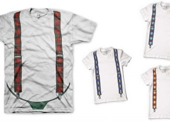 Trousers braces t shirt design for download
