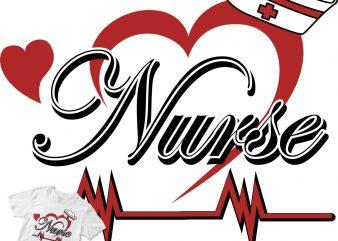 nurse graphic t-shirt design