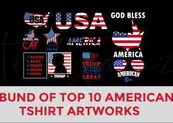 Bundle of premium t-shirt designs – american theme, BEST SELLING