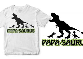 papa saurus ready made tshirt design