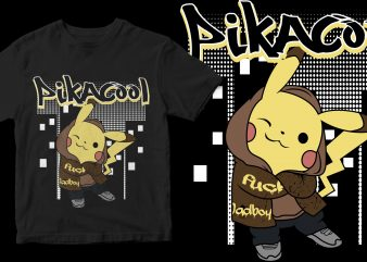 pikacool graphic t-shirt design