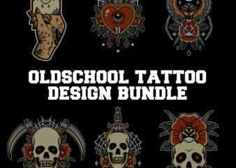 oldschool tattoo design mega bundle