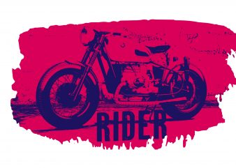 Motorcycle Rider Cool T shirt Design for sale