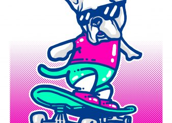 Skate dog buy t shirt design artwork