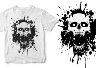 skull abstract graphic t-shirt design
