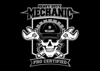 skull Mechanic buy t shirt design artwork