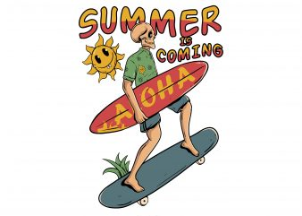 Summer is coming graphic t-shirt design
