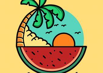 sunset watermelon buy t shirt design