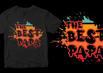 the best papa shirt design png