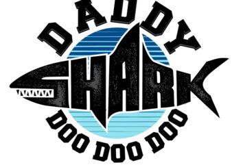 DADDY SHARK t-shirt design for sale