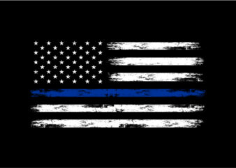 US Police Flag – ready made tshirt design