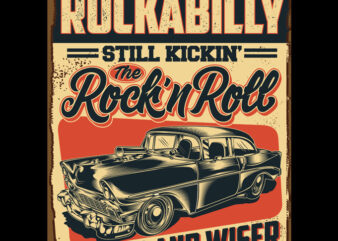 Rockabilly commercial use t-shirt design