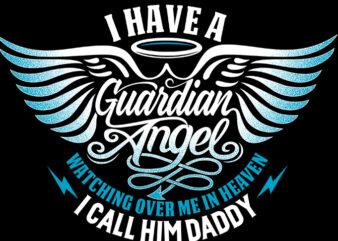 GUARDIAN ANGEL graphic t-shirt design
