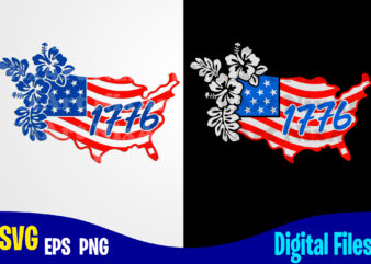 1776, USA svg, 4th july, USA Flag, Stars and Stripes, Patriotic, America, Independence Day design svg eps, png files for cutting machines and print t shirt designs for sale t-shirt design png