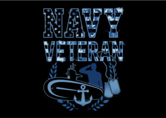 Navy Veteran Camouflage buy t shirt design for commercial use