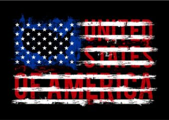 American Flag Text graphic t-shirt design
