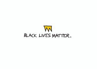 Black Lives Matter Text t shirt design