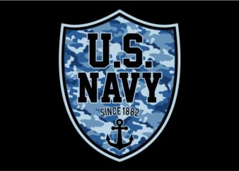 US Navy Shield graphic t-shirt design