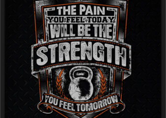 THE PAIN YOU FEEL TODAY WILL BE THE STRENGTH