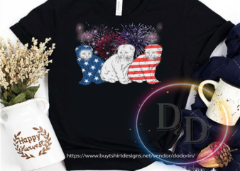 Cat Red White Blue America USA Flag Firework Celebration 4th of july t shirt design for purchase