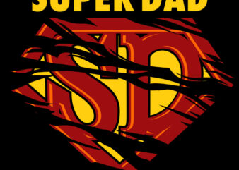 SUPER DAD t shirt design for download