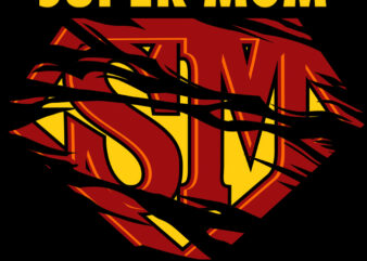 SUPER MOM t shirt design for sale